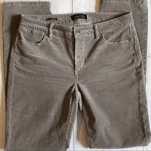 Women's Talbots Straight Leg Grey Corduroy